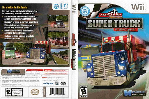 Maximum Racing: Super Truck Racer Wii cover (SN7EYG)