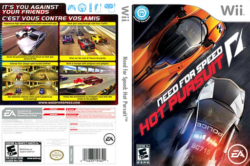 Need for Speed: Hot Pursuit Wii cover (SNHE69)
