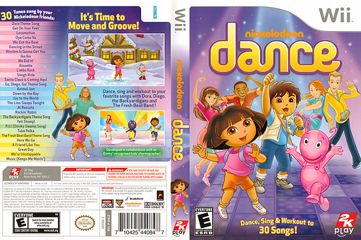 Nickelodeon Dance Wii cover (SNLE54)