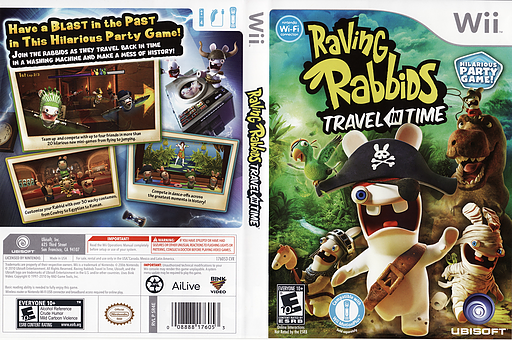 Raving Rabbids:Travel in Time Wii cover (SR4E41)