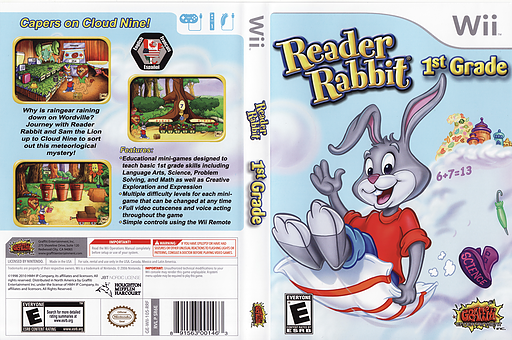 Reader Rabbit 1st Grade Wii cover (SR6EHG)
