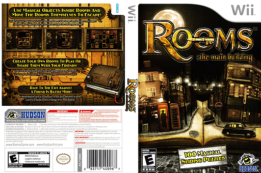 Rooms: The Main Building Wii cover (SRME18)