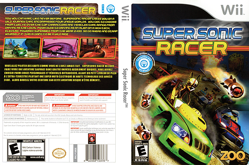 Super Sonic Racer Wii cover (SRSE20)