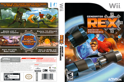 Generator Rex: Agent of Providence Wii cover (SRXE52)