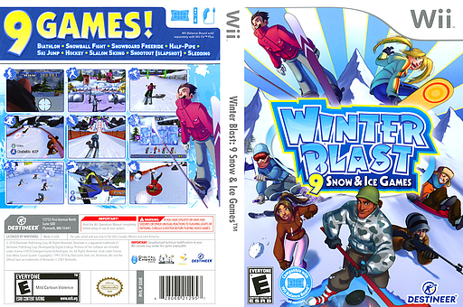 Winter Blast: 9 Snow & Ice Games Wii cover (SSIENR)