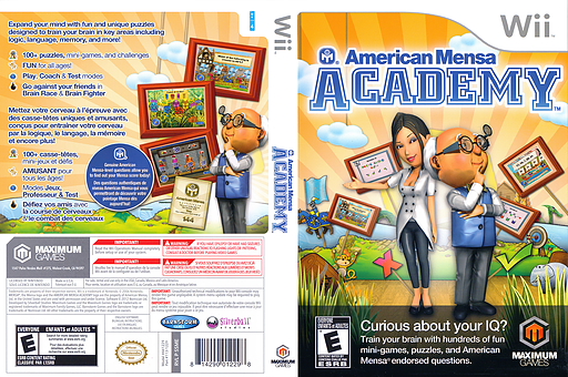 American Mensa Academy Wii cover (SSMEYG)