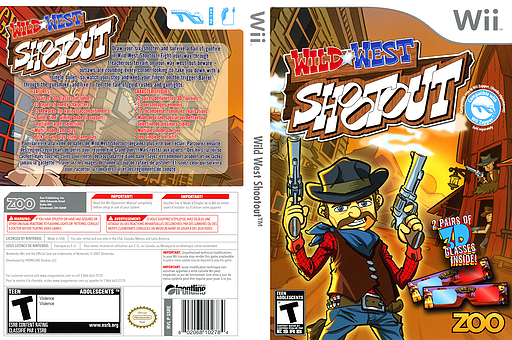 Wild West Shootout Wii cover (SSRE20)
