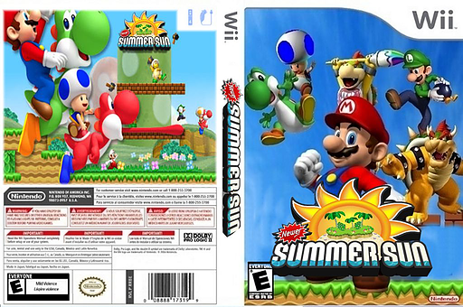 New Super Mario Bros. Wii: Summer Sun CUSTOM cover (SSSE01)