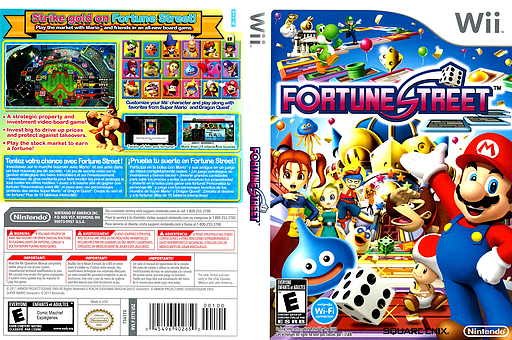 Fortune Street Wii cover (ST7E01)