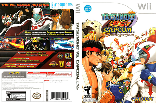 Tatsunoko vs. Capcom: Ultimate All-Stars Wii cover (STKE08)