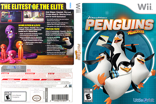Penguins of Madagascar Wii cover (SV7EVZ)
