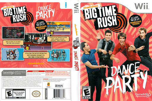 Big Time Rush: Dance Party Wii cover (SVCEPZ)