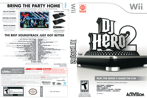 DJ Hero 2 Wii cover (SWBE52)