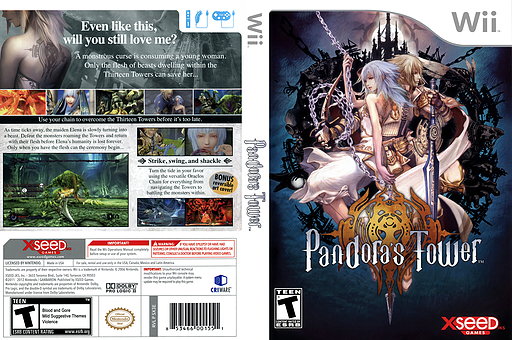 Pandora's Tower Wii cover (SX3EXJ)