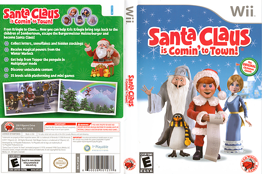 Santa Claus is Comin' to Town! Wii cover (SX5E4Z)