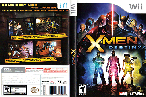 X-Men Destiny Wii cover (SX8E52)