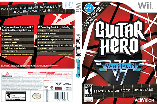 Guitar Hero: Van Halen Wii cover (SXDE52)