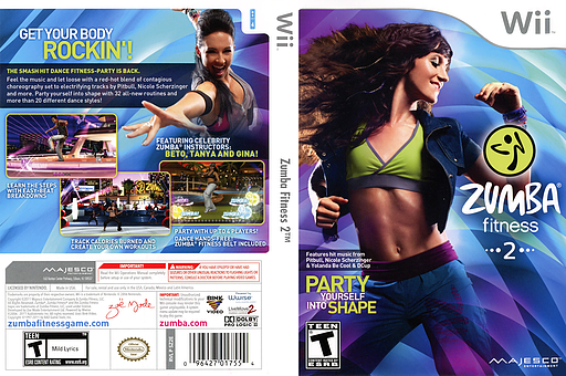 Zumba Fitness 2 Wii cover (SZ2E5G)