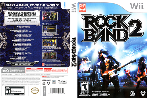 Rock Band 2 Wii cover (SZAE69)