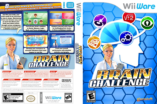 Brain Challenge WiiWare cover (W2CE)