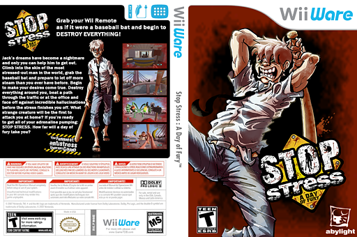 Stop Stress: A Day of Fury WiiWare cover (W44E)