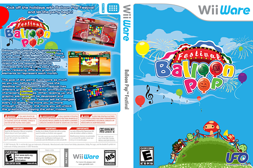 Balloon Pop Festival WiiWare cover (W8LE)