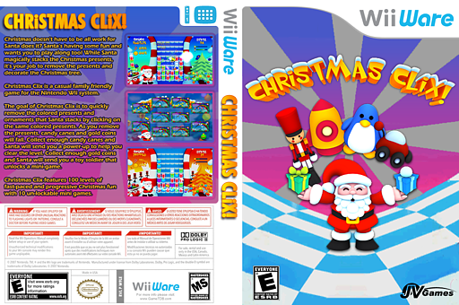 Christmas Clix WiiWare cover (W9LE)