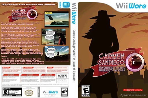 Carmen Sandiego Adventures in Math: The Island of Diamonds WiiWare cover (WA5E)