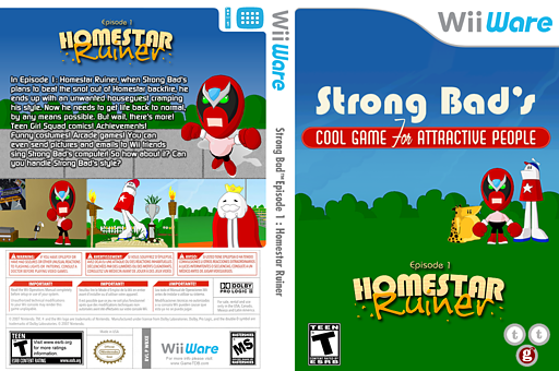 Strong Bad Episode 1: Homestar Ruiner WiiWare cover (WBXE)