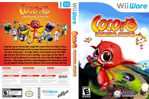 Cocoto Platform Jumper WiiWare cover (WCJE)