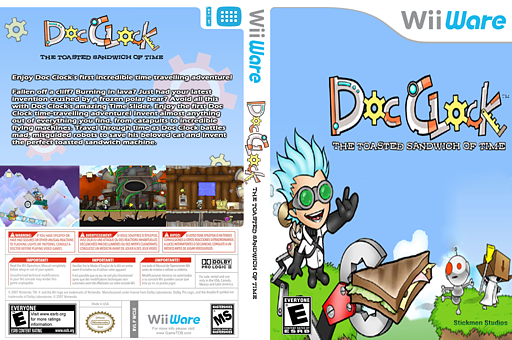 Doc Clock: The Toasted Sandwich of Time WiiWare cover (WCLE)