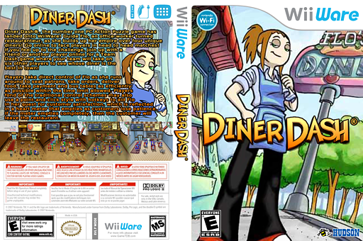 Diner Dash WiiWare cover (WDDE)