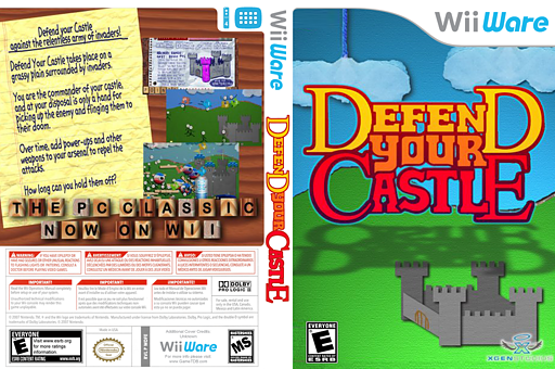 Defend your Castle WiiWare cover (WDFE)