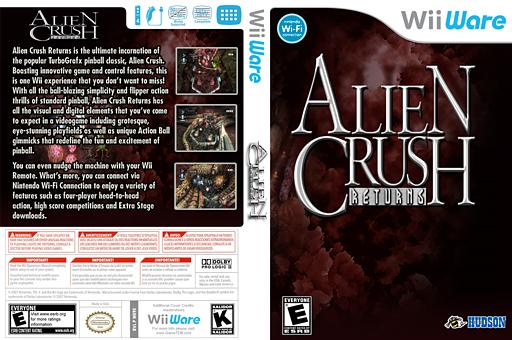 Alien Crush Returns WiiWare cover (WE9E)