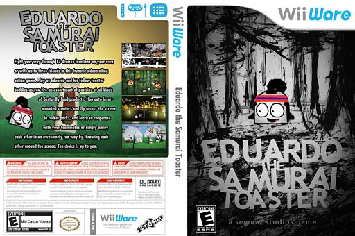 Eduardo the Samurai Toaster WiiWare cover (WEDE)