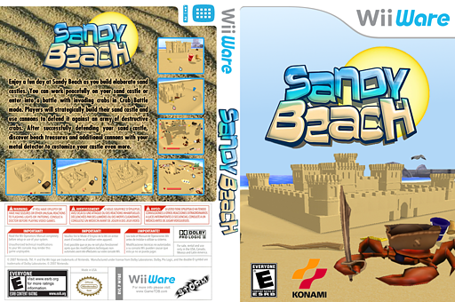 Sandy Beach WiiWare cover (WFBE)