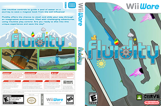 Fluidity WiiWare cover (WFLE)