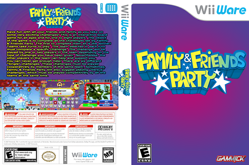 Family & Friends Party WiiWare cover (WFME)