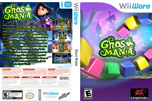 Ghost Mania WiiWare cover (WGAE)