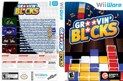 Groovin' Blocks WiiWare cover (WGVE)