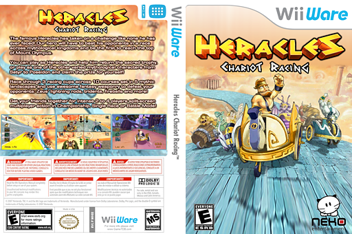 Heracles: Chariot Racing WiiWare cover (WHEE)