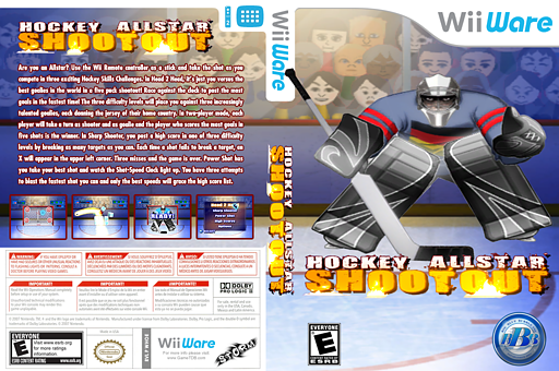 Hockey Allstar Shootout WiiWare cover (WHOE)