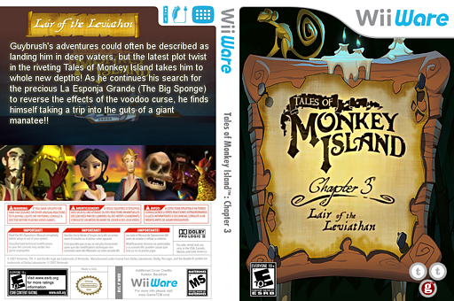 Tales of Monkey Island: Chapter 3 - Lair of the Leviathan WiiWare cover (WIEE)