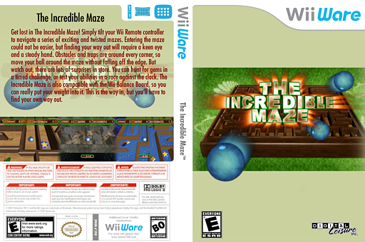 The Incredible Maze WiiWare cover (WINE)