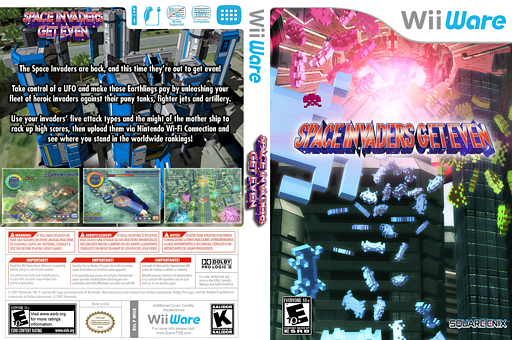 Space Invaders Get Even WiiWare cover (WIVE)
