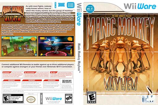 Manic Monkey Mayhem WiiWare cover (WM3E)
