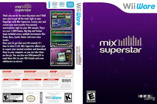Mix Superstar WiiWare cover (WM4E)