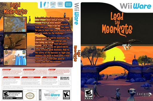 Lead the Meerkats WiiWare cover (WMKE)