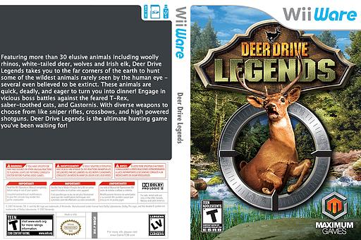 Deer Drive Legends WiiWare cover (WRQE)