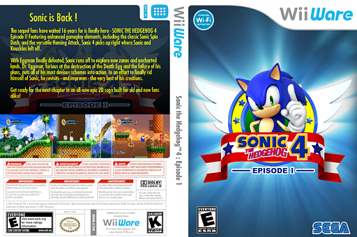 Sonic The Hedgehog 4 Episode I WiiWare cover (WSNE)